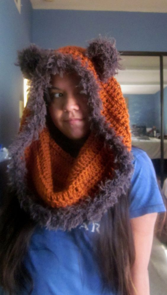 Star Wars Inspired Hood Cosplay Ewok Cowl Ewok by ...
