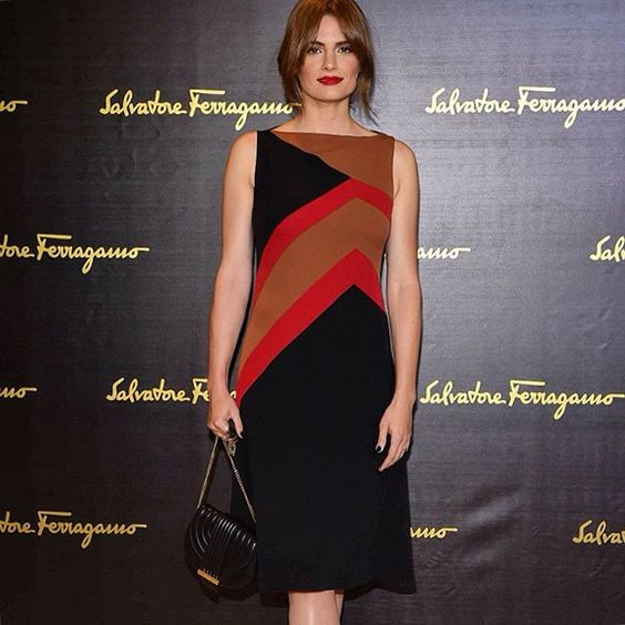 #FerragamoLIVE | Actress #StanaKatic attends #FerragamoSS16 Women's Collection Runway Show.
