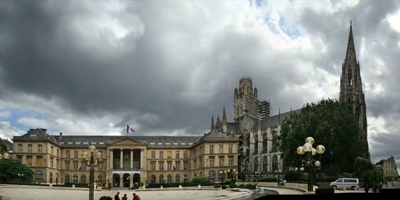 City Hall and Church of Saint Ouen, Rouen.