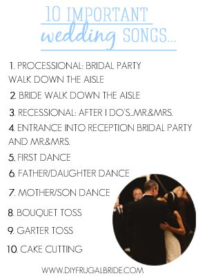 The 10 Important Wedding SongsDont Forget That Its All About Setting The Mood For Your
