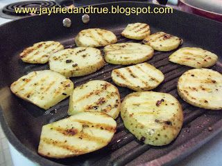 Grilled Garlic Potato Rounds