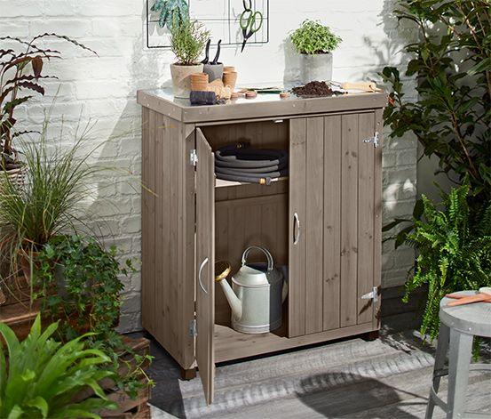 Kleiner Gartenschrank Online Bestellen Bei Tchibo 367530 Gartenschrank Schrank Fur Balkon Gartenschrank Holz