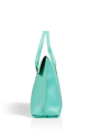 Turquoise Leather Sookie Tote by SALVATORE FERRAGAMO   Luxury fashion online   STYLEBOP.com