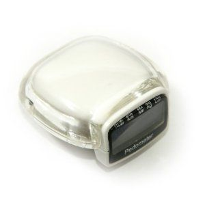 Super Compact Multifunction Pedometer. Electronic Calorie Counter, Step Counter, Stopwatch, Clock, and Timer Ivory White Large LCD Display Belt Clip (Misc.) www.amazon.com/...