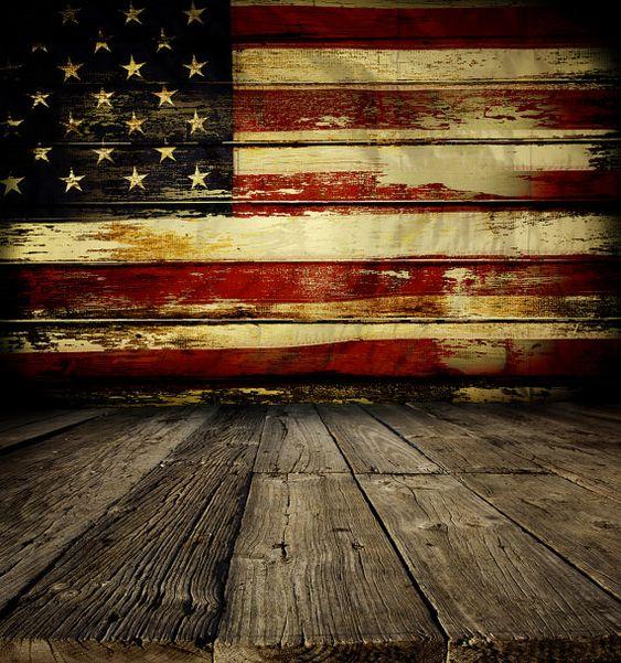 Rustic American Flag Backdrop - patriotic, 4th of July ...