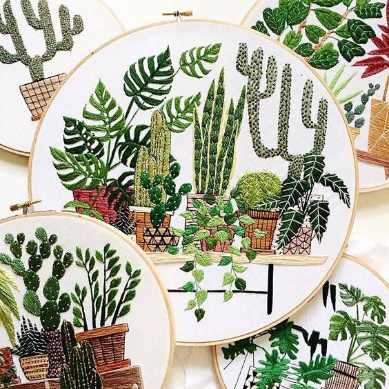 Plantas bordadas   No me toques las Helvéticas   Blog sobre diseño gráfico y publicidad