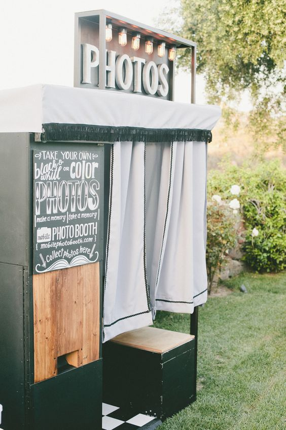Vintage-Inspired Photo Booth | Bash Please | Coordinator, M.D. | onelove photography https://www.theknot.com/marketplace/onelove-photography-danville-ca-223204