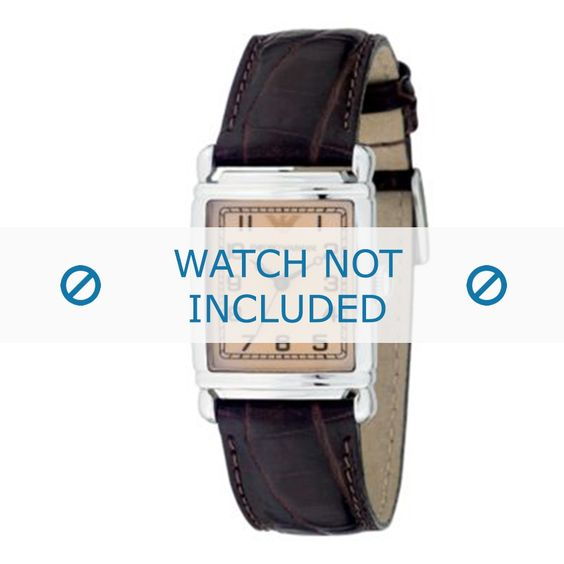 Armani AR-0204 Uhrenarmband Kroko Leder Braun 18mm - Jetzt bestellen! - Uhrenarmbandwelt.com