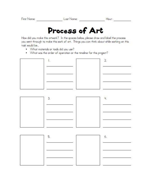 Process Of Art Pdf Art Docs Handouts And Printables