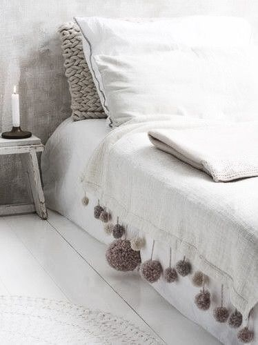 white bedroom, blanket,