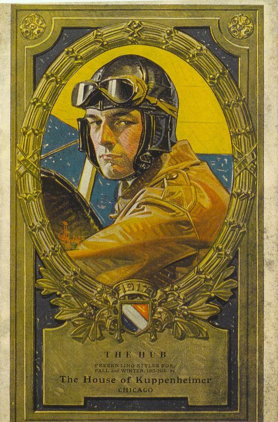 J.C. Leyendecker illustration cover art for Kuppenheimer Style Booklet, Chicago, Fall-Winter 1917-1918: