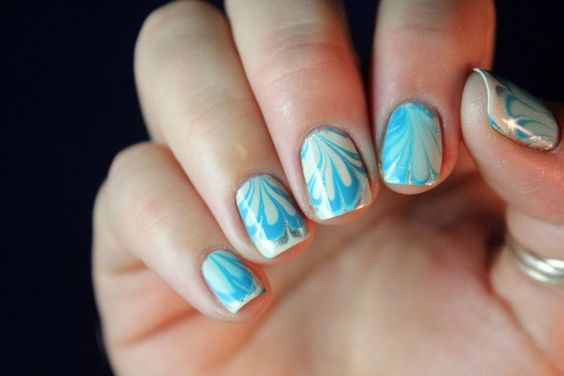 Two-colors Nail Design | Color nails and Nail art galleries