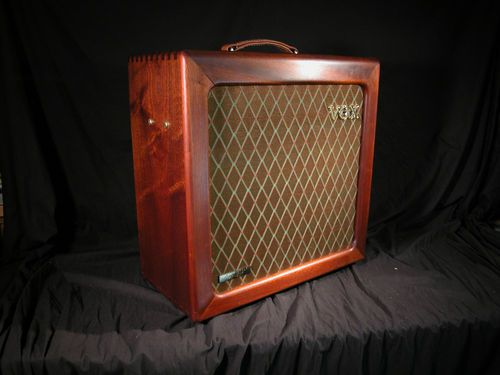 vox ac15 h1tvl 50th anniversary limited edition hand wired mahogany cabinet alnico blue. Black Bedroom Furniture Sets. Home Design Ideas