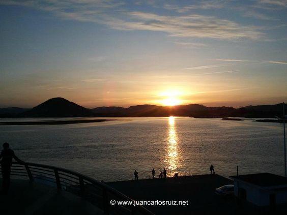 Una panorámica desde el puerto de Santoña, Cantabria. Spain