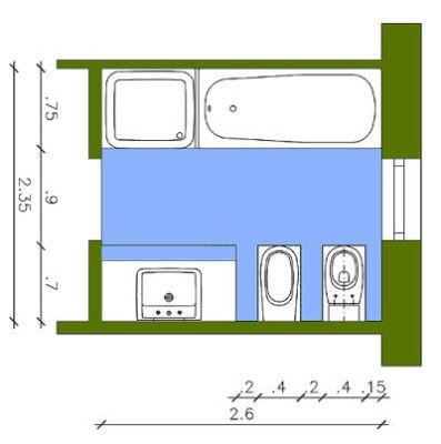 Badezimmer 7 Quadratmeter - Design