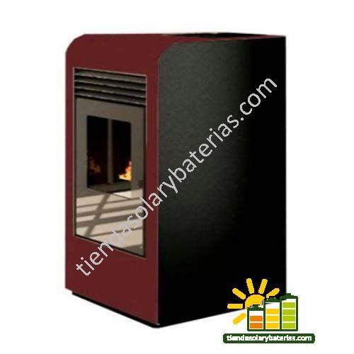 Estufa Pellet Biomasa Eider Alfa 12 Kw Estufa Servicio Técnico Mandos A Distancia