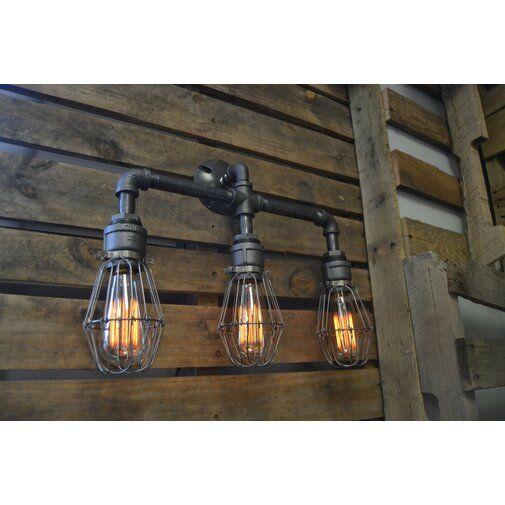 3 Light Vanity Light Steel Lighting Industrial Lighting Design