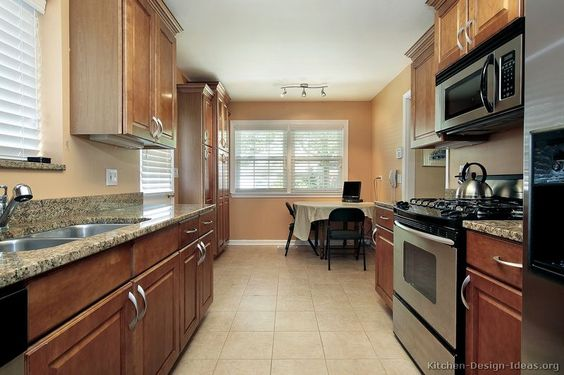 Small galley kitchens pictures of kitchens traditional for Traditional galley kitchen designs