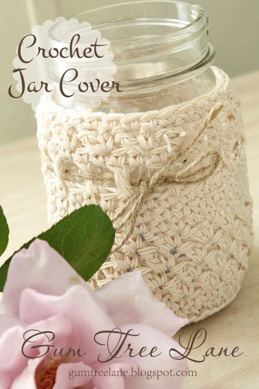 Crochet jar covers, Crochet and Jars on Pinterest