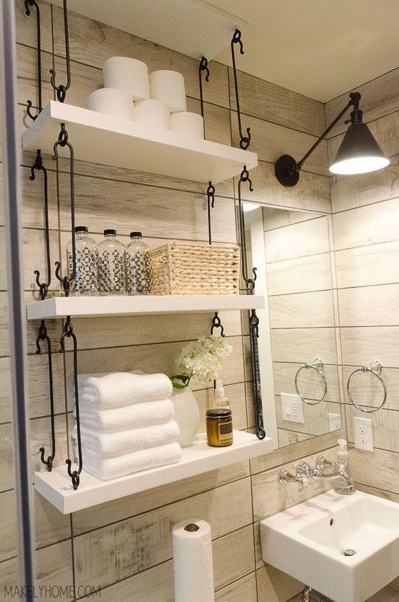 Innovative Small Space Bathroom Storage Solutions  Martha Stewart  Apartment