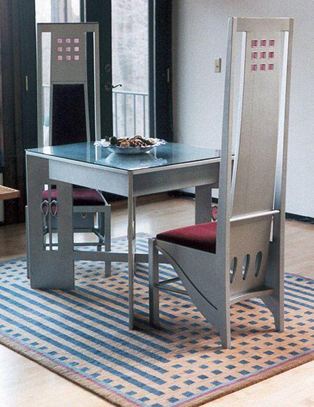 Charles rennie mackintosh dining sets charles rennie mackintosh and tables - Dining room furniture glasgow ...
