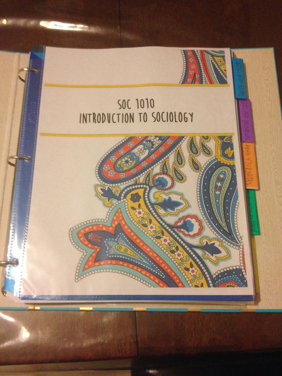 The Holladay Life: How to organize your college binder