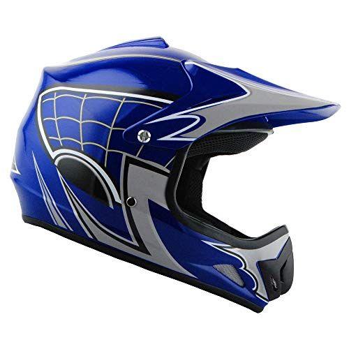 Wow Youth Kids Motocross Bmx Mx Atv Dirt Bike Helmet Spider Web Blue Car Accessories Online Market Blue Car Accessories Dirt Bike Helmets Helmet