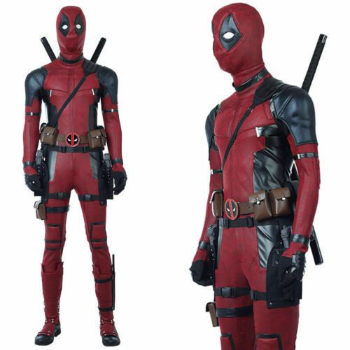 Avengers Halloween Lycra Spandex Full Body Deadpool Cosplay Costume 2017 HOT