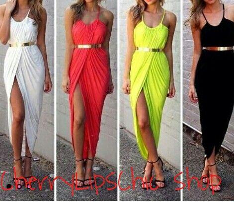 Vestiti estivi vari colori  Senza cintura Tg S M L € 42/ Chiffon summer dresses Without belt Size S M L € 42
