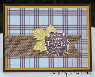 Simple Tags 4 You card with Sweater Weather DSP and Burlap Ribbon