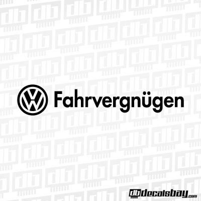 Volkswagen Fahrvergnugen Decal / Sticker | Fahrvergnugen! | Pinterest | Truck decals, Logos and ...