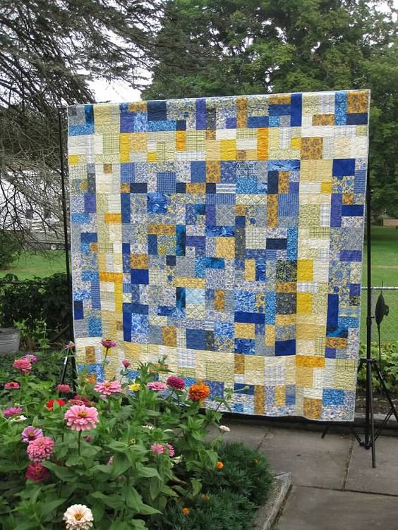 Quilt, Yellow and Bricks on Pinterest