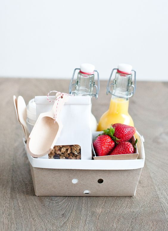 Pamper Mom With Breakfast Breakfast Basket  Perfect For Pampering Mom in Bed or Greeting Your Guests at a Destination