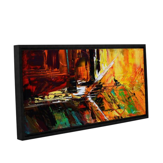 ArtWall Milen Tod 'Glitch' Gallery-wrapped Floater-framed Canvas