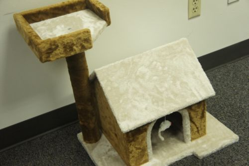 Cat-Tree-Pet-Furniture-Condo-House-Scratch-Post-Kitten-Bed-Tower-Hammock-Perch