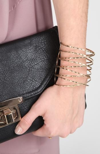 Crossed Bangles Cuff Bracelet