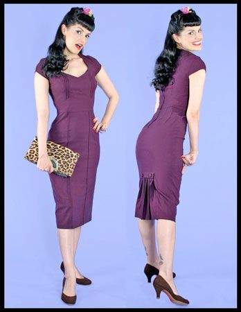 "Eggplant  Kick Pleat  ""Hey""  Dress  by Stop Staring $139"