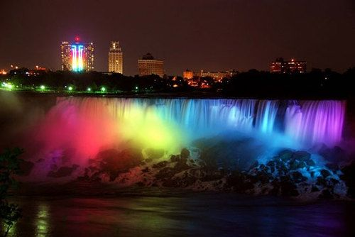 most beautiful place Niagra Falls the Canadian side.
