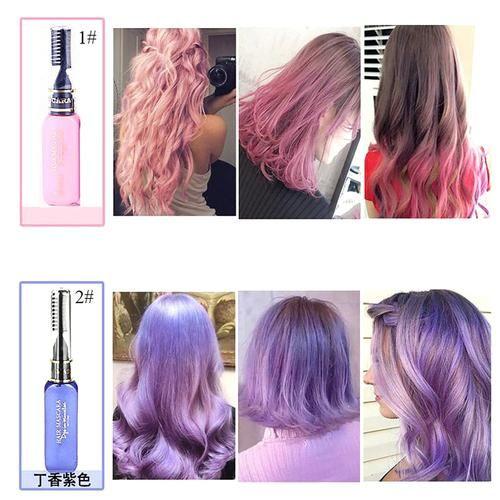 13 Colors One Time Hair Color Dye Temporary Non Toxic Diy Mascara Cream Blue Gray Purple Diy Hair Dye Hair Tint Dyed Hair Purple