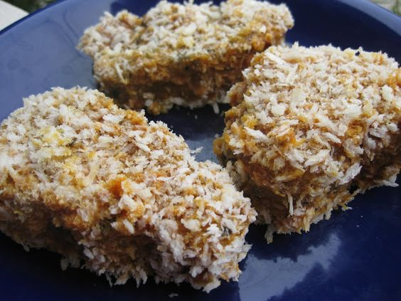Vegan Mommy Chef: Fish Sticks (Minus the Fish) - 2 cups vegetable broth or water 1 cup dry quinoa, rinsed 1 cup cooked chickpeas 2/3 cup pumpkin, sunflower, hemp, sesame, or chia seeds (I like to use 2-3 different ones for variety.) 1/4 cup oat bran 1/2 cup vital wheat gluten 1/4 cup chia seed meal 2 Tbsp. olive oil 2-3 Tbsp. non-dairy milk 1/4 cup nori flakes (You could just grind up those popular nori strip snacks.) 1/2 Tbsp. onion powder 1 tsp. Old bay Seasoning 1/2-1 tsp salt, to taste