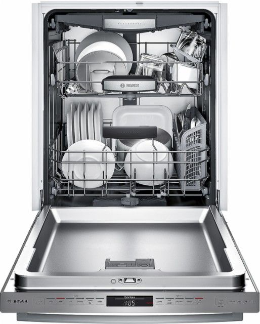 Best Buy Bosch 800 Series 24 Bar Handle Dishwasher With Stainless Steel Tub Stainless Steel Shxm78w55n Built In Dishwasher Integrated Dishwasher Bosch Dishwashers