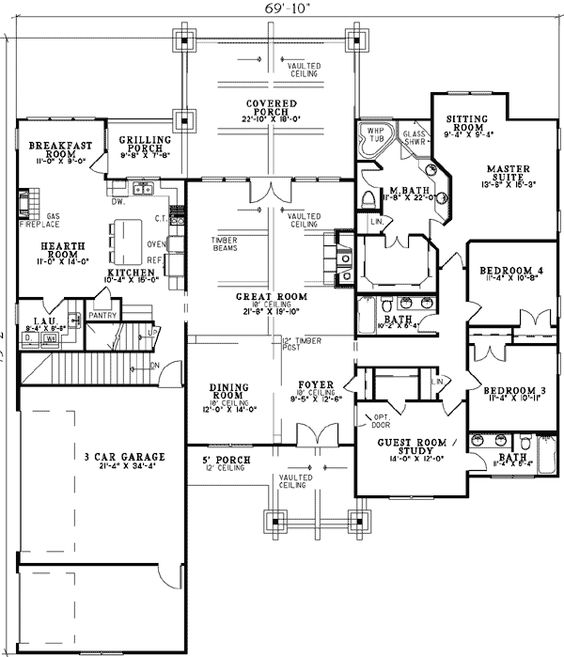 House plans pantry and garage on pinterest Basement in law suite floor plans