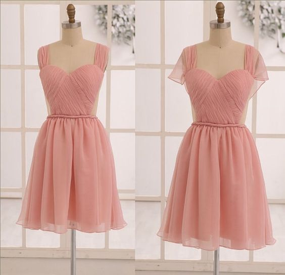Kneelength Chiffon Short Bridesmaid DressProm by PandoraDress, $89.00