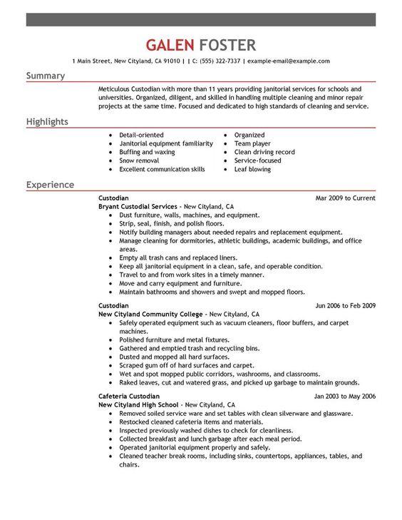Adi Widianto (adiwidianto1970) on Pinterest - janitorial resume skills