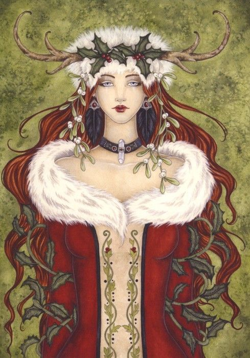 Yule/Christmas card by artist Amy Brown.
