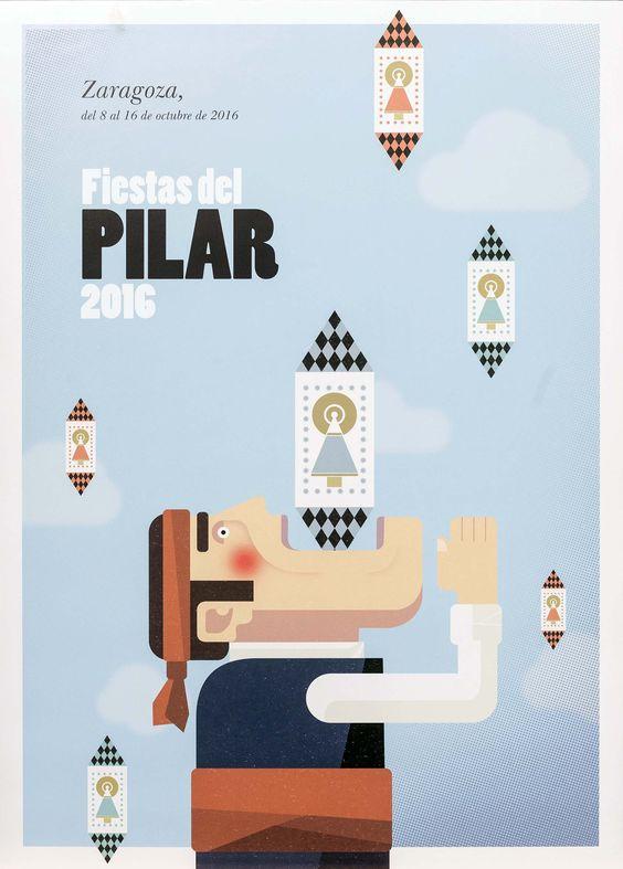 Ayuntamiento de Zaragoza. Noticias.Los zaragozanos Miguel Frago y Samuel Aznar, ganadores del concurso del Cartel de las Fiestas del Pilar 2016:
