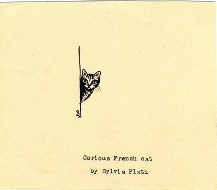 Curious French cat :: Sylvia Plath's sketches (via The Paris Review)