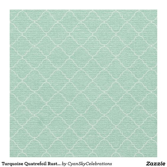 Turquoise Quatrefoil Rustic Country Wedding Fabric #deer #antlers #rustic #country #wedding #turquoise #woodland #woodsy #natural #nature