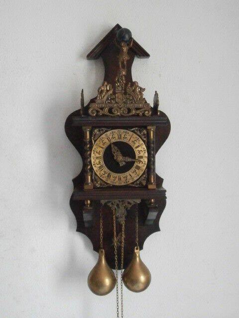 Reloj Antiguo De Pared Alemán Con Pesas Y Péndulo Estilo