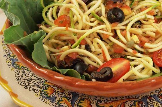 Zucchini Pasta with Puttanesca